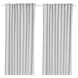 IKEA  HANNALILL Gardinen Vorhang (145x300cm) 2 Gardinenschal grau Neu