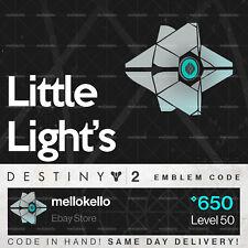 Destiny 2 Little Light's emblem IN HAND!! SAME DAY DELIVERY!!!