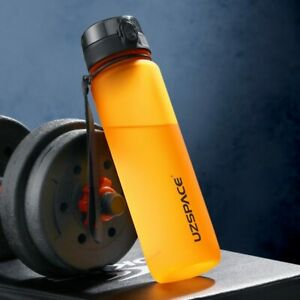 Sports Water Bottle Protein Shaker Outdoor Travel GYM Portable BPA FREE