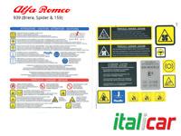 ALFA ROMEO 939 (159, Brera & Spider) Engine Bay Sticker Set