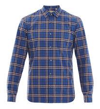 BURBERRY Men's Thornaby Blue Check Shirt 2XL