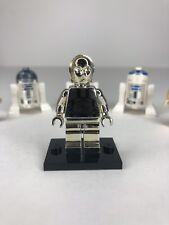 LEGO STAR WARS CHROME GOLD C-3PO 1 OF 10000 LIMITED EDITION C3PO R2D2 Sw158 Nn
