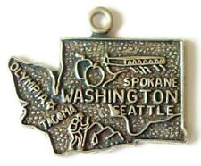 Washington State    vintage sterling silver travel bracelet charm