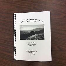 Upper Transylvania County, NC Remembered, genealogy & history