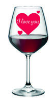 12 I LOVE YOU/ VALENTINE Heart Romantic sticker self adhesive decal For Glasses