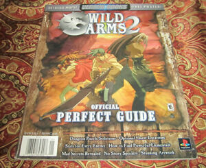 Wild Arms 2 Sony Playstation PS1 Official Perfect Guide Versus WITH POSTER Book