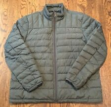 Tommy Hilfiger Packable Down Jacket Mens XL Warm Winter Gray