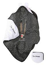 BlueberryShop cotton fleece car seat  Blanket  Baby, black stars white