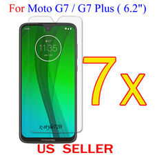 """7x Clear LCD Screen Protector Guard Cover Film For Motorola Moto G7/G7 Plus 6.2"""""""