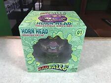 "2016 Kidrobot Mad Balls 8"" Inch Medium Vinyl Figure Urban Toy Art MIB HORN HEAD"