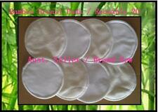 8 x Bamboo Reusable Breast Pads - Washable Nursing Pads for Breastfeeding