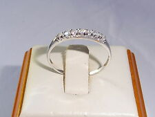 Ladies 925 Silver Sterling 7 Stone White Sapphire Eternity Engagement Ring