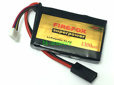 FIREFOX 11.1V 1300mAh 20C PEQ15 Li-Polymer Rechargeable Battery Helicopter AEG