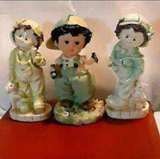 Polystone Boy/Girl Pair & Boy Collectible Figurines