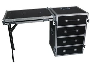 DESK 4 DRAWER ATA WORK CASE WITH TABLE TOP - ATA WORK BOX -