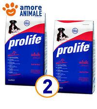 2 SACCHI - Prolife Adult Manzo e Riso 15 Kg - Crocchette per cani adulti