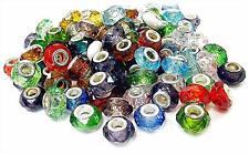 European Beads Charm Mix Color Crystal Glass fit Bracelet 14x8mm 20 pcs