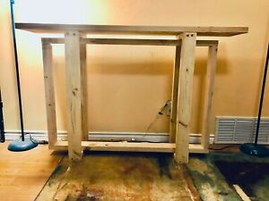 """Gorgeous Handcrafted Solid Wood """"Jackson"""" Console Table Custom Build & Finish"""