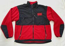ARMY NATIONAL GUARD Men's XXL 2XL Fleece Jacket Red Black Full Zip CLEAN GREAT