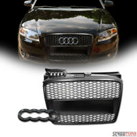 Matte Black Honeycomb Mesh Front Hood Bumper Grille Replacement For 05-08 A4 B7