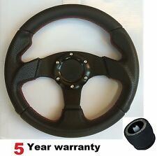 280MM SMALL SPORT RACING RACE STEERING WHEEL AND BOSS KIT HUB FIT PEUGEOT SAXO