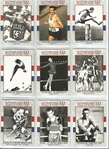 1991 Impel US Olympic Hall of Fame Lot of 9 Cards