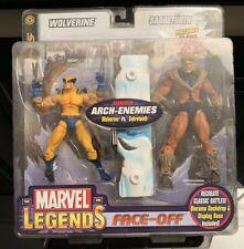 Marvel Legends ToyBiz Face-Off Wolverine vs. Sabertooth Arch Enemies w/Comic MIP
