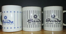 """3 Coffee Cups from """"The Sands"""" Casino, 2 same style & 1 different, Awesome"""