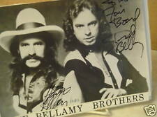 Bellamy Brothers,Hand signed Photo,Personalized,1983,Costa Mesa Fair 1983, Au