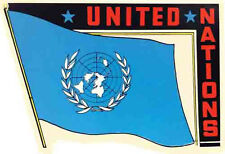United Nations  UN     Vintage-1950's Style   Travel Sticker/Decal