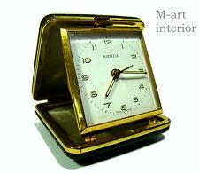 KIENZLE Reisewecker Reiseuhr Etui Uhr German Travel Alarm Clock 40s/50s vintage