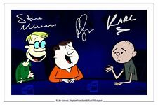 STEPHEN MERCHANT, RICKY GERVAIS AND KARL PILKINGTON SIGNED PHOTO PRINT THE SHOW