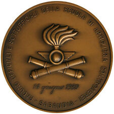 Medaglia Raduno Ufficiali Scuola di Artiglieria Controaerei Sabaudia 1980 #KG199