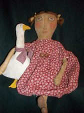 Pattern,sewing,Primitive, 21 in. doll, & goose, by Dumplinragamuffin#80