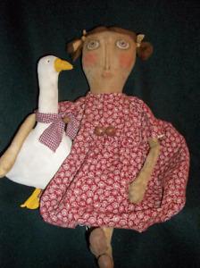 Primitive doll,/& lamb PATTERN,Sewing #PO11 by Dumplinragamuffin