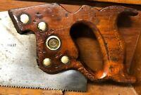 Disston D-8 Lightweight Crosscut Saw - 7 TPI Handsaw