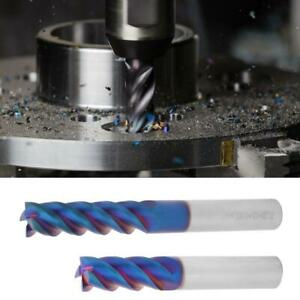 12mm Dia 4 Flute CNC End Mill Milling Cutter Tungsten Steel Slot Dril HRC65°