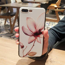 Luxury 3D Lotus Flower Rubber Shockproof Phone Case Cover for iPhone 7 6 6s Plus