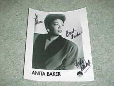Anita Baker Autographed Signed Photo Grammy Award Singer