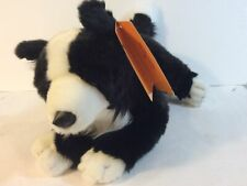 Nwt Border Collie Animal Alley Toys R Us Black White Dog Puppy Stuffed Animal