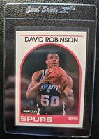 1989 HOOPS #310 DAVID ROBINSON ROOKIE CARD RC HOF SAN ANTONIO SPURS HOF MINT