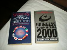 WEBSTER'S POCKET DICTIONARY AND THESAURUS AND GUINNESS WORLD RECORDS 2000