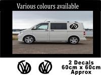 VW Volkswagen Transporter T4 T5 Camper Van Stripes Stickers Decals Vinyl V542