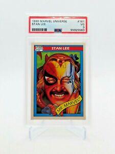 1990 Impel Marvel Universe Stan Lee #162 VG PSA 3