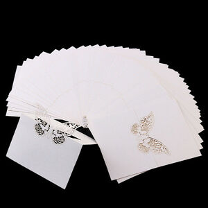 100pcs Butterflies Place Card Name Cards Wedding Birthday Party Table Decoration