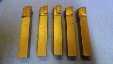 5 – 5/8 x 4'' AL10 K21 (C-5) Grade Brazed Lathe Tool Bit - 5/8 x 5/8 x 4''. NEW