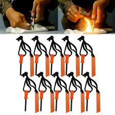 10Pcs Magnesium Rod Fire Starter Emergency Flint Fire Starter Rod Lighter