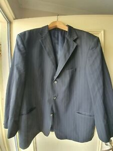 Z Zegna Dark navy striped jacket~ 58 ~ excellent condition new without tags