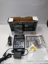 Behringer Xenyx 502 5-input Mixer With Power Cable