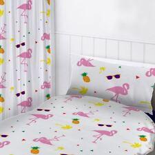 Flamants Roses rideaux prêt à l'em Ploi chambre 168cmx183cm ENFANTS BLANC /